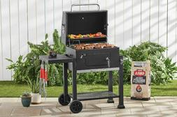 Rolling Charcoal Grill BBQ Barbecue Outdoor Cooking Heavy Du