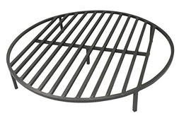 "Round Fire Pit Grate 36"" Heavy Duty Grill Cooking Campfire C"
