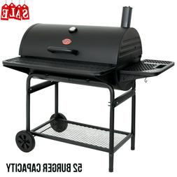Heavy Duty Steel Charcoal Barbecue Grill Side Table Deluxe O
