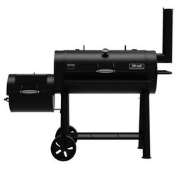 Signature Heavy-Duty Barrel Charcoal Grill and Offset Smoker