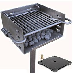 single post park grill charcoal