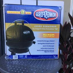 """Kingsford Small Portable Grill 14"""" Black Kettle Hinged Lid S"""