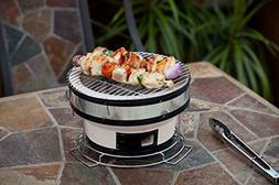 Fire Sense Small Yakatori Charcoal Grill in Tan Grilling Out