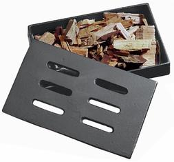 Smoker Box Grill Bbq Cast Iron Charcoal Smolder Smoke Flavou