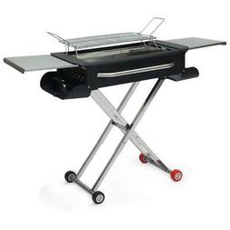 Sougem Portable Charcoal Grill BBQ Folding Shelf Stainless S