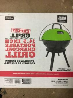"Spicy Lime Green Expert Grill 14.5"" Portable Dome Charcoal O"