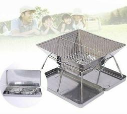 Stainless BBQ Grill Foldable Easy Assembled Suitable For Hom