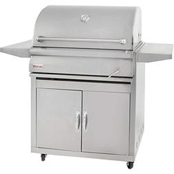 Blaze 32-inch Charcoal Grill with Adjustable Charcoal Tray ,