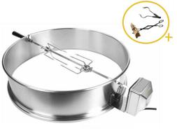 "Onlyfire Stainless Steel Rotisserie Ring Kit 21.5- 22.5"" Cha"