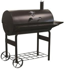 RiverGrille Stampede Charcoal BBQ Grill Outdoor Barrel Barbe