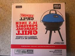 "Summer Lagoon Blue Expert Grill 14.5"" Portable Dome Charcoal"