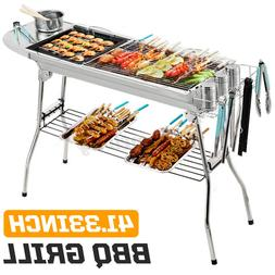 US BBQ Grill Barbecue Charcoal Kabob Stove Home Backyard Out