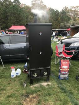 Vertical Charcoal Smoker Barbecue Grill BBQ Meat Cooker Outd