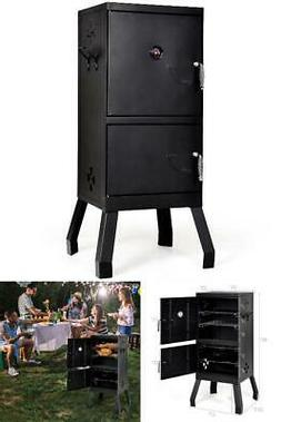 Vertical Charcoal Smoker BBQ Barbecue Grill w/ Temperature G