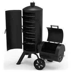Vertical Smoker BBQ Barbeque Cooker Gourmet Charcoal Grill P