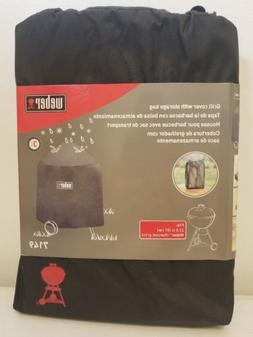 """Weber 7149 Grill Cover with Storage Bag 22.5"""" Charcoal Grill"""