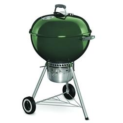 Weber Original Premium 22-in Green Kettle Charcoal Grill