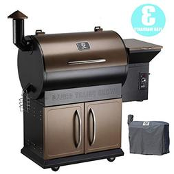 Z Grills Wood Pellet Grill & Smoker with Patio Cover,700 Coo