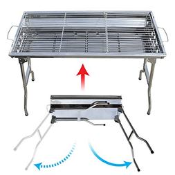 BenefitUSA Foldable Large Stainless Steel Barbecue Charcoal