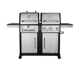 Royal Gourmet ZH3003S Premium 3-Burner 27000-BTU Gas and Cha